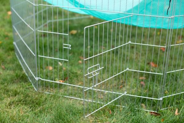 Freilaufgehege 6 Elemente mit Schutznetz