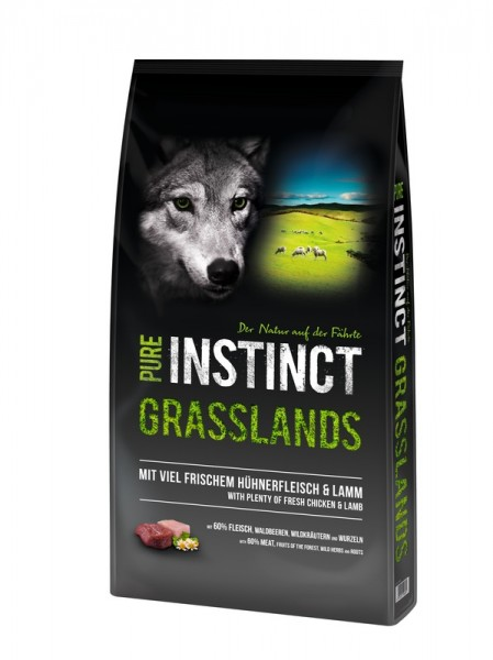 Pure Instinct Grasslands Adult Huhn & Lamm 12 kg