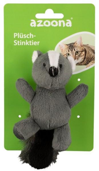 Azoona Katzenspielzeug Stinktier Plüsch
