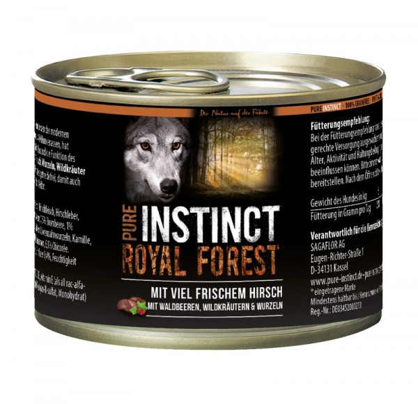 Pure Instinct Hirsch Royal Forest 200 g Dose