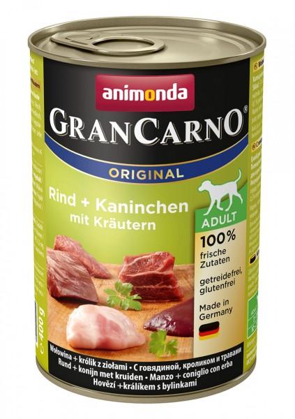 Animonda GranCarno Adult mit Rind + Kaninchen + Kräuter 400 g