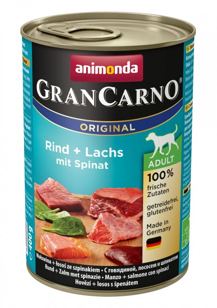 Animonda GranCarno Adult mit Rind + Lachs + Spinat 400 g