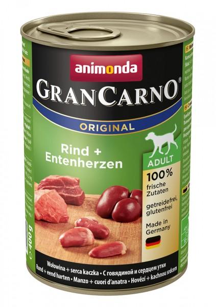 Animonda GranCarno Adult mit Rind + Entenherzherz 400 g