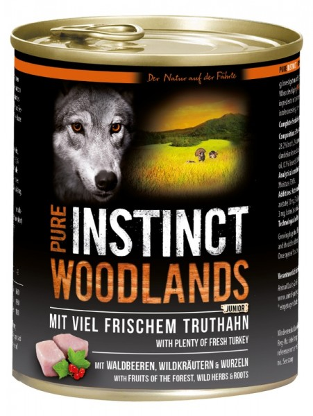 Pure Instinct Junior Truthahn Woodlands 800 g Dose