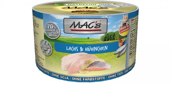 Macs Dose Lachs + Hühnchen 200 g