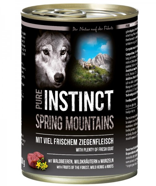 Pure Instinct Ziege Spring Mountains 400 g Dose