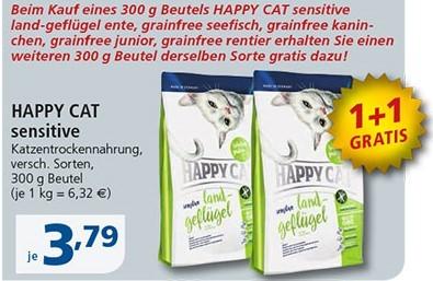 Happy Cat sensitive 300 g 1+1 Gratis