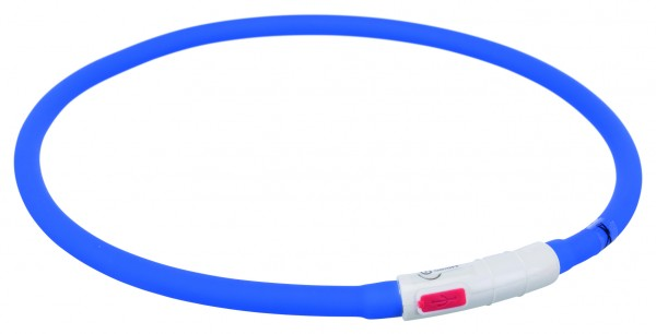 Trixie Flash Leuchtring USB, Silikon XS-XL 70 cm