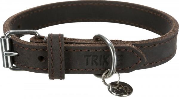 Trixie Rustic Fettleder-Halsband