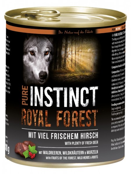 Pure Instinct Hirsch Royal Forest 800 g Dose