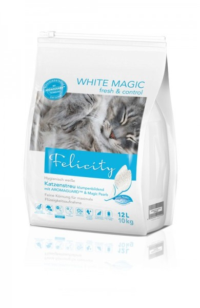 Felicity Katzenstreu WHITE MAGIC fresh & control 12 L / 10 kg