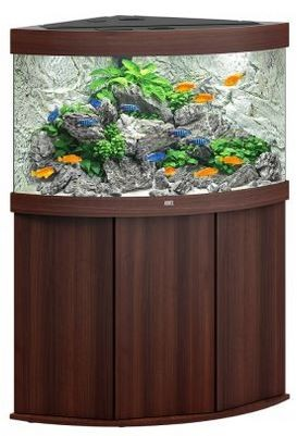 Juwel Trigon 190 LED Aquarium Kombination dunkles Holz