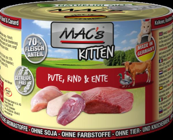 Macs Dose Kitten Pute + Rind + Ente 200 g