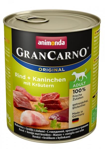 Animonda GranCarno Adult mit Rind + Kaninchen + Kräuter 800 g