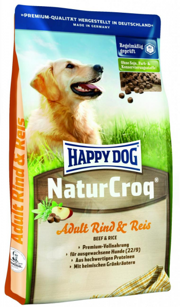 Happy Dog NaturCroq Rind Reis