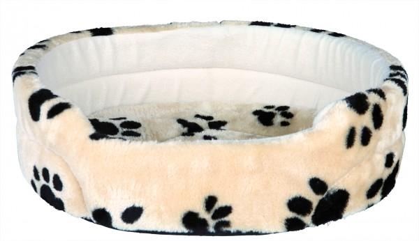 Trixie Hundebett Charly beige mit Pfoten