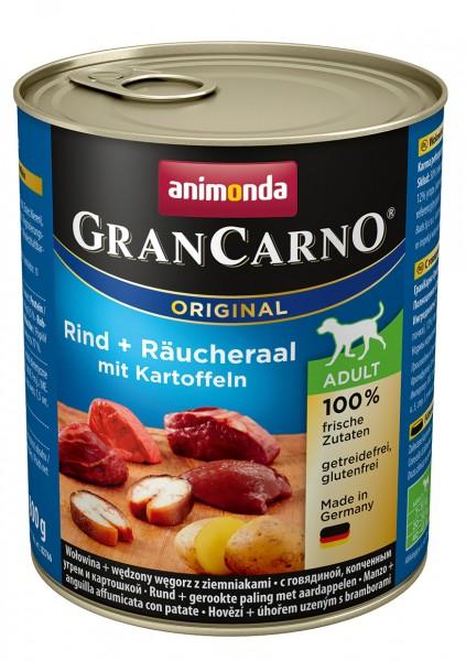 Animonda GranCarno Adult mit Rind + Räucheraal + Kartoffel 800 g