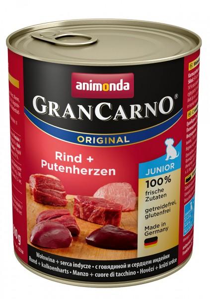 Animonda GranCarno Junior mit Rind + Putenherzen 800 g