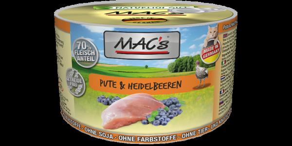Macs Dose Pute + Heidelbeeren 200 g