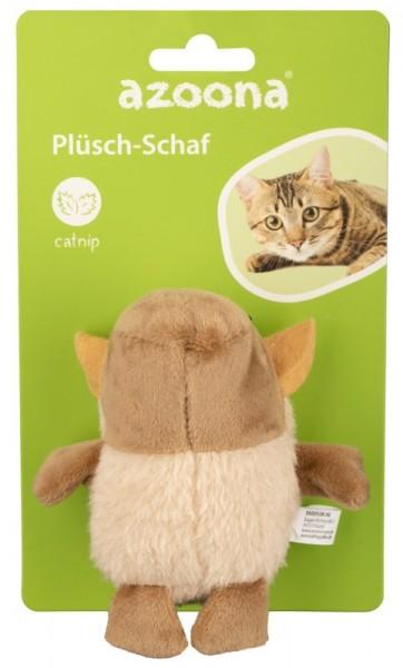 Azoona Katzenspielzeug Schaf Plüsch