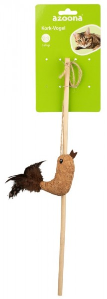 Azoona Katzenspielzeug Vogel Kork