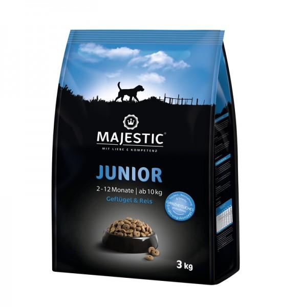 Majestic Junior Geflügel & Reis 3 Kg