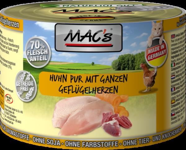 Macs Dose Huhn mit ganzen Geflügelherzen 200 g