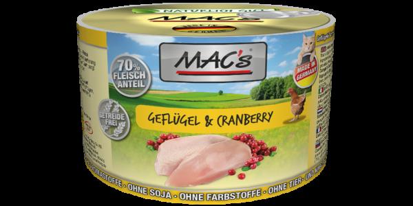 Macs Dose Geflügel + Cranberry 200 g