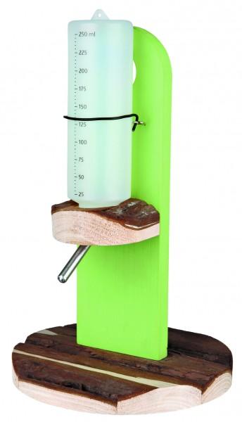 Trixie Tränkenhalter aus Naturholz 18x18x30 cm