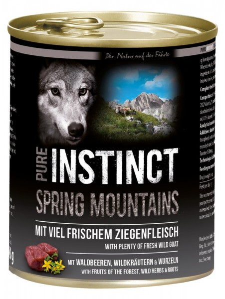 Pure Instinct Ziege Spring Mountains 800 g Dose