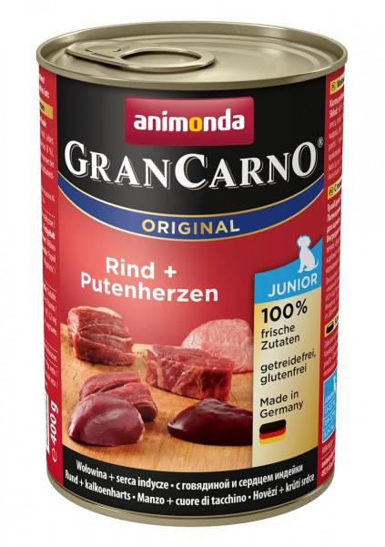 Animonda GranCarno Junior mit Rind + Putenherzen 400 g