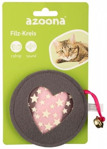 Azoona Katzenspielzeug Filz-Kreis