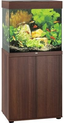 Juwel Lido LED 120 Aquarium Kombination dunkles Holz
