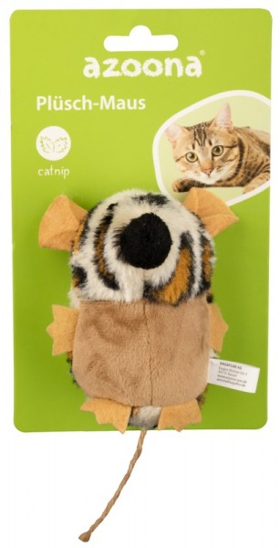 Azoona Katzenspielzeug Maus Plüsch
