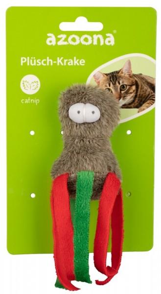 Azoona Katzenspielzeug Krake Plüsch