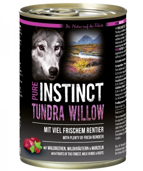 Pure Instinct Rentier Tundra Willow 400 g Dose
