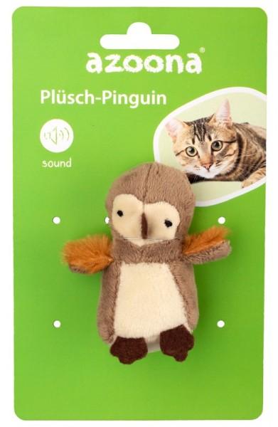 Azoona Katzenspielzeug Pinguin Plüsch