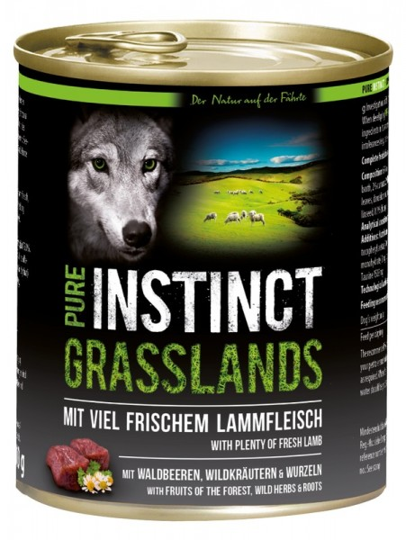Pure Instinct Lamm Grasslands 800 g Dose