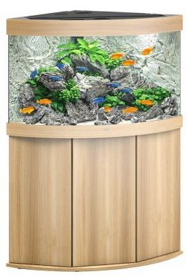 Juwel Trigon 190 LED Aquarium Kombination helles Holz