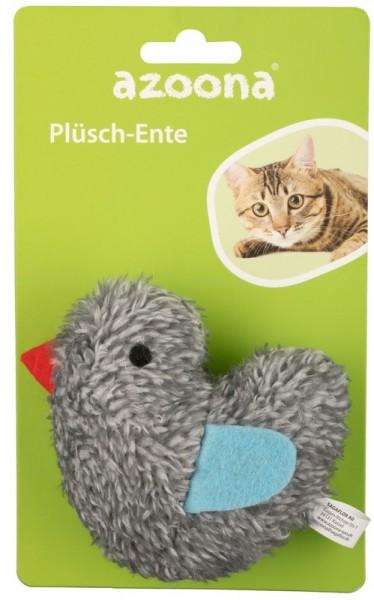 Azoona Katzenspielzeug Ente Plüsch