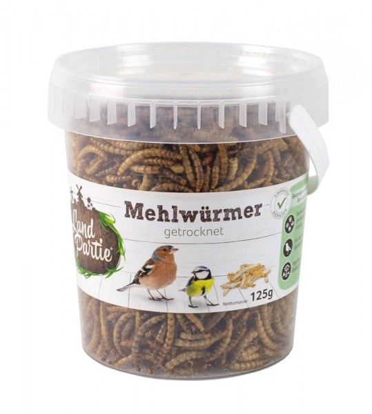 LandPartie Mehlwürmer getrocknet 125 g Eimer