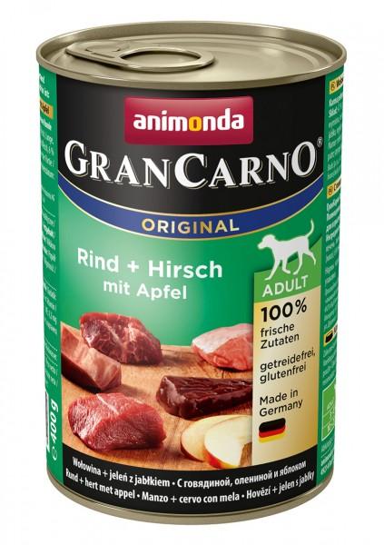 Animonda GranCarno Adult mit Rind + Hirsch + Äpfel 400 g