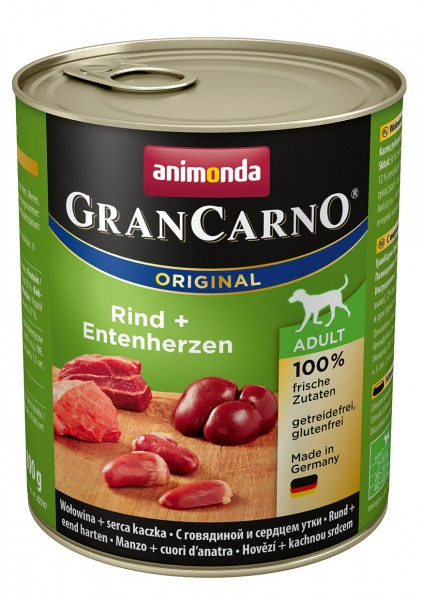 Animonda GranCarno Adult mit Rind + Entenherzherz 800 g