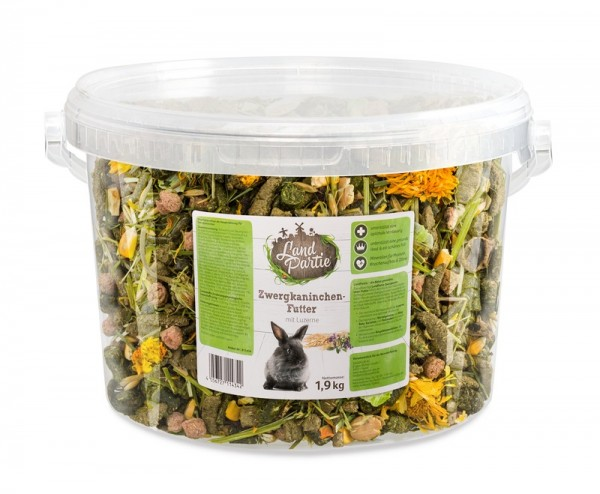 LandPartie Eimer Zwergkaninchen Futter 1,9 kg
