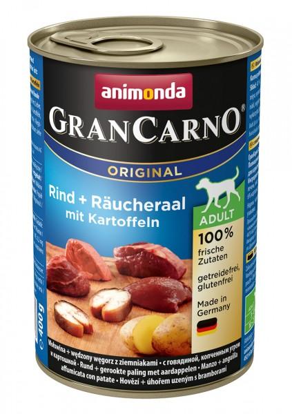Animonda GranCarno Adult mit Rind + Räucheraal + Kartoffel 400 g