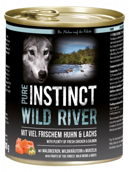 Pure Instinct Huhn & Lachs Wild River 800 g Dose